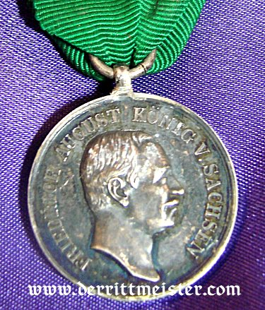 SILVER MEDAL FÜR TREUE IN DER ARBEIT - SAXONY - Imperial German Military Antiques Sale