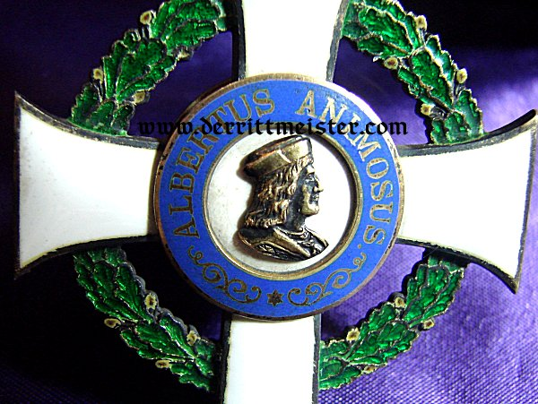 SAXONY - ALBERT ORDER COMMANDER'S CROSS (2nd MODEL) - Imperial German Military Antiques Sale