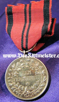 KÖNIG WILHELM II GOLDEN SERVICE MEDAL - WÜRTTEMBERG - Imperial German Military Antiques Sale