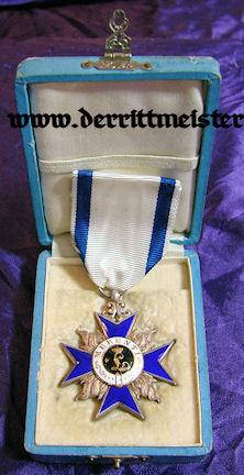 BAVARIA - MILITARY MERIT ORDER  - 4th CLASS - ORIGINAL PRESENTATION CASE - Imperial German Military Antiques Sale