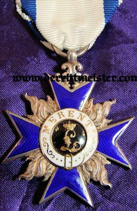 MILITARY MERIT ORDER 4th CLASS - ORIGINAL PRESENTATION CASE - BAVARIA - Imperial German Military Antiques Sale