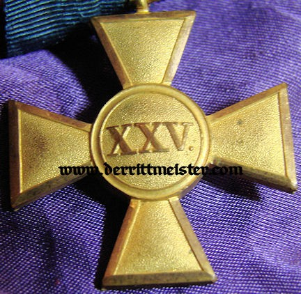 LONG SERVICE CROSS - TWENTY-FIVE YEARS - OFFICER - PRUSSIA - Imperial German Military Antiques Sale