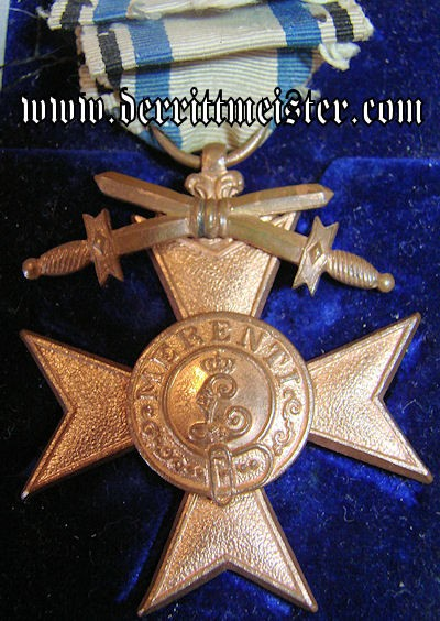 MILITARY MERIT CROSS 3rd CLASS- SWORDS - ORIGINAL PRESENTATION CASE - BAVARIA - Imperial German Military Antiques Sale