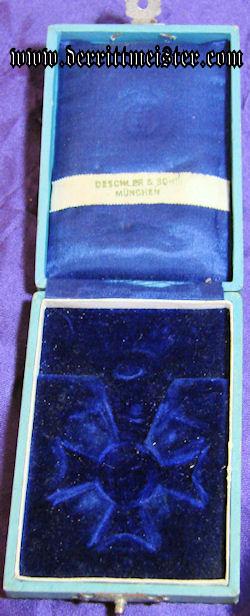 MILITARY MERIT CROSS 3rd CLASS- SWORDS - ORIGINAL PRESENTATION CASE - BAVARIA - Imperial German Military Antiques Sale
