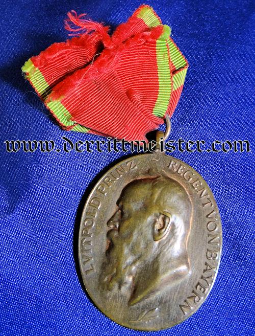 PRINZ REGENT LUITPOLD MEDAL FOR SERVICE - BAVARIA - Imperial German Military Antiques Sale