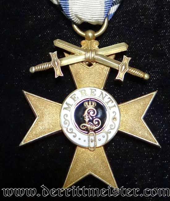 MILITARY SERVICE CROSS 1st CLASS WITH SWORDS - BAVARIA - Imperial German Military Antiques Sale