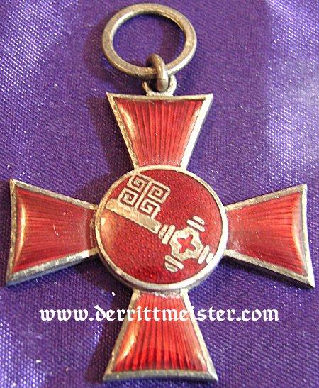 HANSEATIC CROSSES - FREE STATES - HAMBURG, LÜBECK, AND BREMEN - ORIGINAL PRESENTATION CASE - AWARDED - AUSTRIA'S ARCHDUKE EUGEN - Imperial German Military Antiques Sale