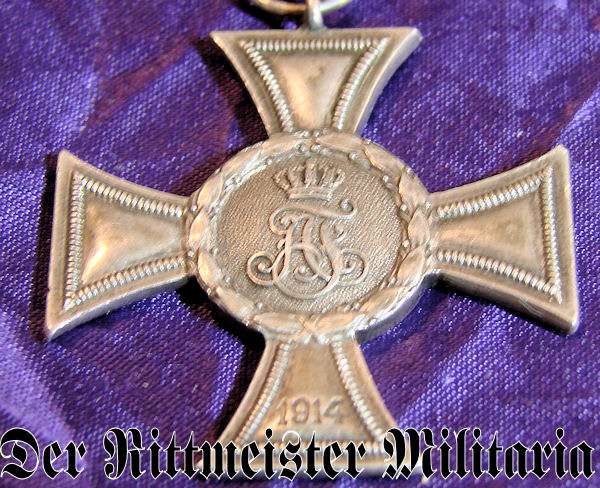 WAR HONOR CROSS 2nd CLASS - NON COMBATANTS - MECKLENBURG-STRELITZ - Imperial German Military Antiques Sale