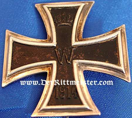 1914 IRON CROSS 1st CLASS - NON VAULTED AND .800 SILVER HALLMARKED IN THE ORIGINAL PRESENTATION CASE. - Imperial German Military Antiques Sale