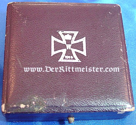 """IRON CROSS - 1914 - 1st CLASS - NON VAULTED  WITH """"KO"""" HALLMARK IN ORIGINAL PRESENTATION CASE - Imperial German Military Antiques Sale"""