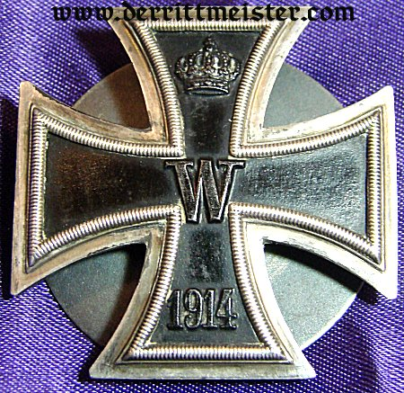 1914 IRON CROSS 1st CLASS - THREE-PIECE SCREWBACK - .800 SILVER - Imperial German Military Antiques Sale