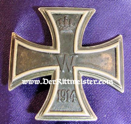 IRON CROSS - 1914 - 1st CLASS - ORIGINAL PRESENTATION CASE. - Imperial German Military Antiques Sale