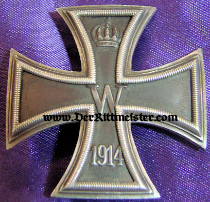 1914 IRON CROSS 1st CLASS - LOW VAULTED - .930 SILVER HALLMARKED - ORIGINAL PRESENTATION CASE - Imperial German Military Antiques Sale