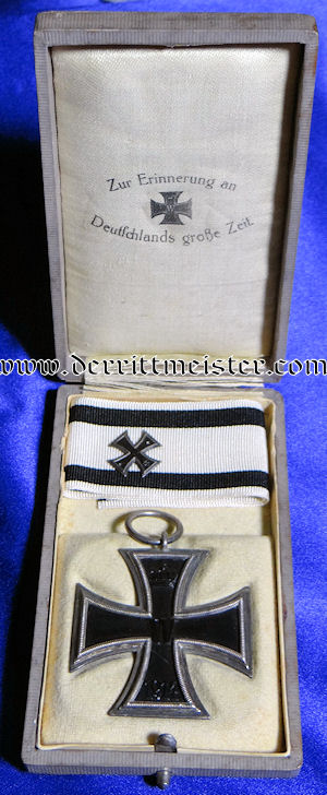 IRON CROSS - 1914 - 2nd CLASS - NON COMBATANTS' WITH PRESENTATION CASE