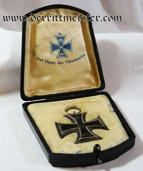1914 IRON CROSS 2nd CLASS IN ORIGINAL PRESENTATION CASE - Imperial German Military Antiques Sale