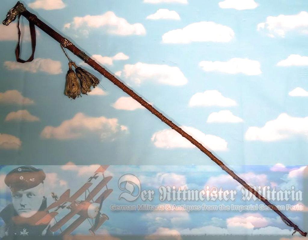 PRUSSIA - VETERANS WALKING STICK - INFANTERIE-REGIMENT Nr 15 - Imperial German Military Antiques Sale