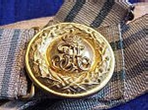 OFFICER'S BROCADE BELT AND BUCKLE - SAXONY - Imperial German Military Antiques Sale