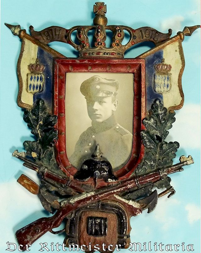 BAVARIA - PHOTO AND FRAME - NCO - Imperial German Military Antiques Sale