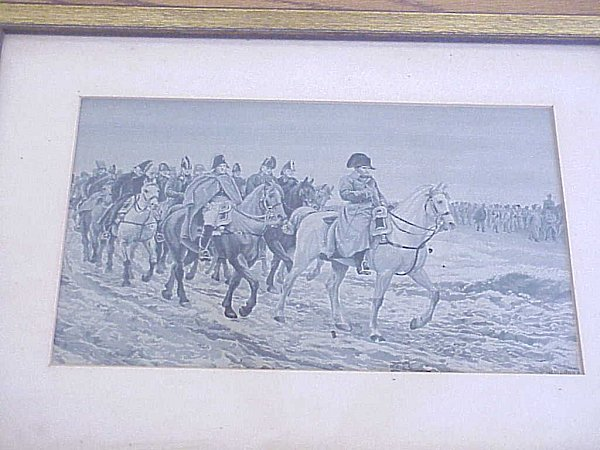 NAPOLEONIC SILK PRINT - Imperial German Military Antiques Sale