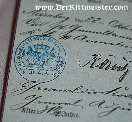 CIVILIAN PASSPORT - Imperial German Military Antiques Sale
