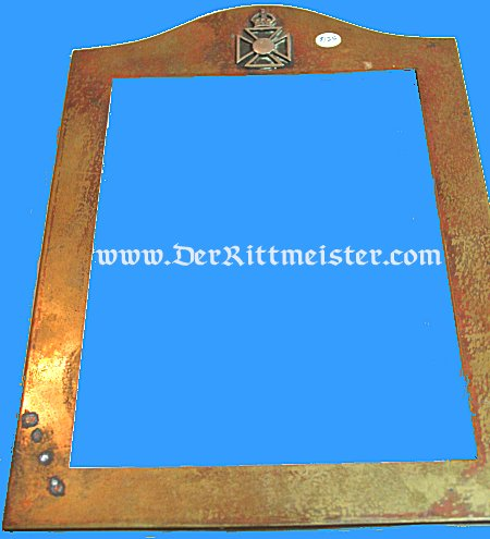 U.K. - FRAME - BRASS - GREAT BRITAIN - Imperial German Military Antiques Sale