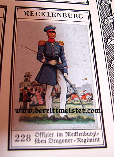 CIGARETTE CARD ALBUM - DER BUNTE ROCK - Imperial German Military Antiques Sale