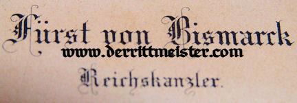 CALLING CARD - OTTO von BISMARCK - Imperial German Military Antiques Sale