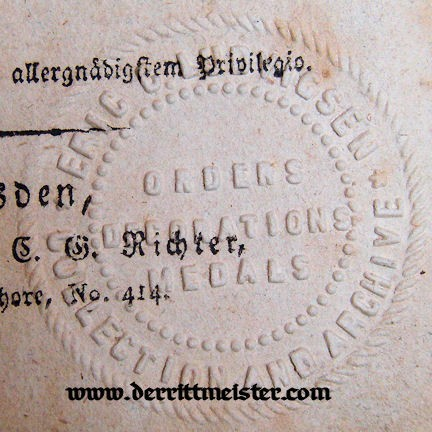 1817 RANGLISTE - SAXONY - Imperial German Military Antiques Sale