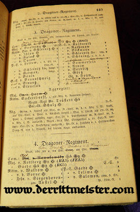 1849 RANG und QUARTIER-LISTE - PRUSSIAN ARMY - NAVY - Imperial German Military Antiques Sale