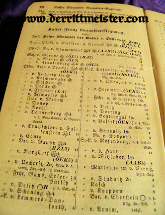 1855 RANG und QUARTIER-LISTE - PRUSSIAN ARMY - NAVY - Imperial German Military Antiques Sale