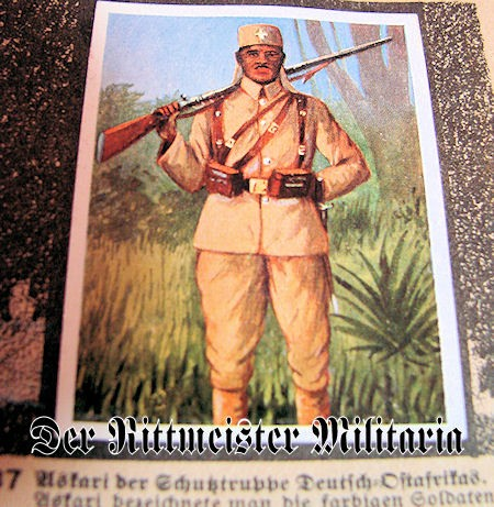 CIGARETTE CARD ALBUM - DEUTSCHE KOLONIEN - Imperial German Military Antiques Sale