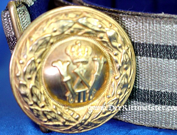 OFFICER BROCADE DRESS BELT - PRUSSIA - Imperial German Military Antiques Sale