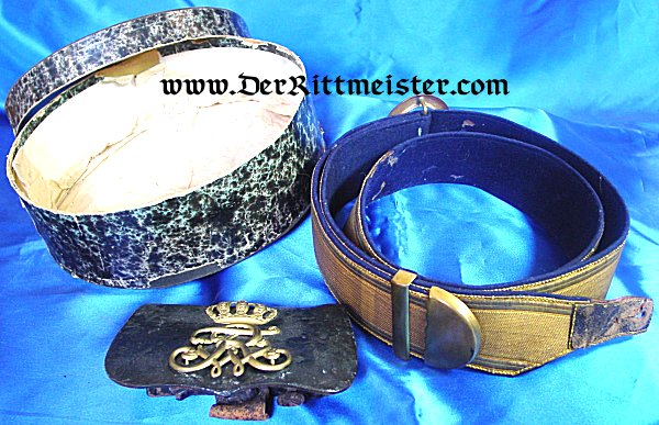 KAVALLERIE REGIMENT DRESS PARADE BELT AND CARTRIDGE BOX WITH ORIGINAL STORAGE BOX - PRUSSIA - Imperial German Military Antiques Sale