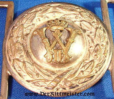 PIONIER OFFICER'S BELT BUCKLE - PRUSSIA - Imperial German Military Antiques Sale