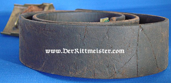 ENLISTED MAN'S BELT AND BUCKLE - PRUSSIA - Imperial German Military Antiques Sale