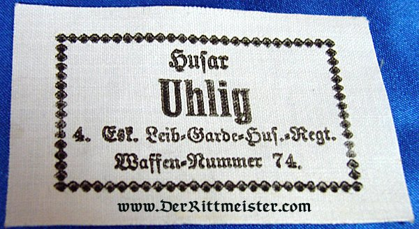 FIVE NAME TAGS - LEIB-GARDE-HUSAREN-REGIMENT - PRUSSIA - Imperial German Military Antiques Sale