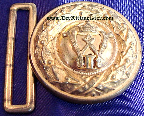 INFANTERIE OFFICER BELT BUCKLE - BADEN - Imperial German Military Antiques Sale