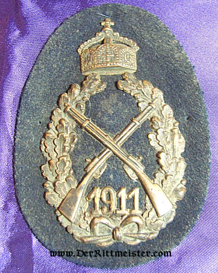 KAISER WILHELM II ANNUAL 1911 SHOOTING PRIZE BADGE - Imperial German Military Antiques Sale