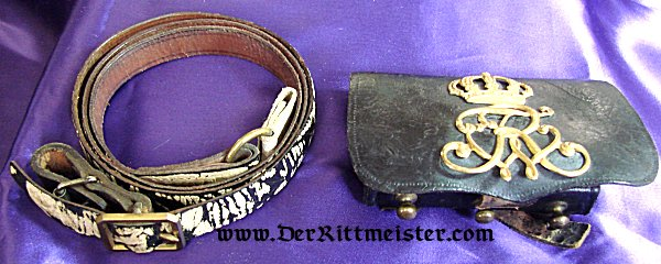 1. LEIB-HUSAREN-REGIMENT Nr 1 OR 2. LEIB-HUSAREN-REGIMENT Nr 2 BELT AND CARTRIDGE BOX - Imperial German Military Antiques Sale