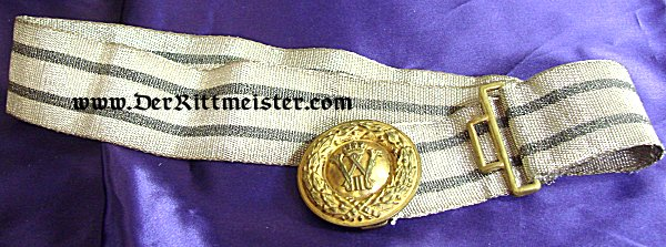 OFFICER'S DRESS BROCADE BELT AND BUCKLE - PRUSSIA - Imperial German Military Antiques Sale