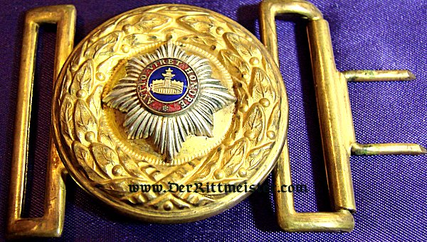 GENERAL OFFICER'S BELT BUCKLE - MECKLENBURG-STRELITZ - Imperial German Military Antiques Sale