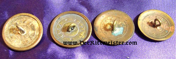 NCO'S COLLAR BUTTONS - PRUSSIA - Imperial German Military Antiques Sale