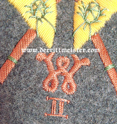 SLEEVE PATCH - REGIMENTAL FAHENTRÄGER FOR A FELDGRAU TUNIC - PRUSSIA - Imperial German Military Antiques Sale