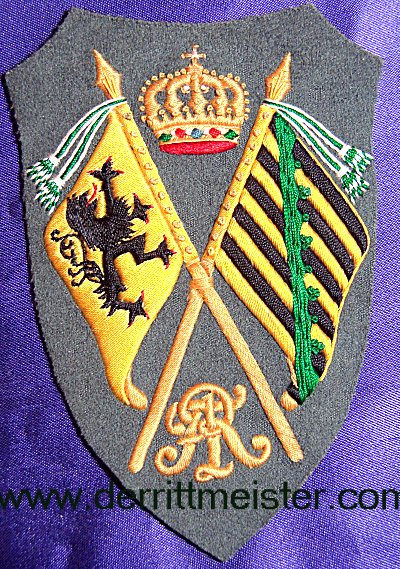 FELDGRAU SLEEVE PATCH - REGIMENTAL FAHENTRÄGER - SAXONY - Imperial German Military Antiques Sale