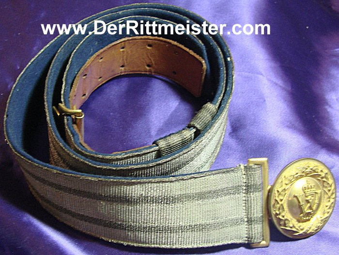 OFFICER'S BROCADE DRESS BELT AND BUCKLE - PRUSSIA - Imperial German Military Antiques Sale