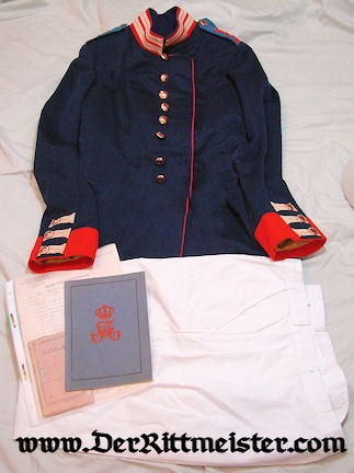 IDENTIFIED ENLISTED MAN'S KÖNIGIN AUGUSTA GARDE-GRENADIER-REGIMENT Nr 4 UNIFORM GROUP - PRUSSIA - Imperial German Military Antiques Sale