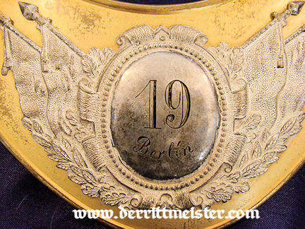 VETERANS GROUP FLAG BEARER'S GORGET - Imperial German Military Antiques Sale