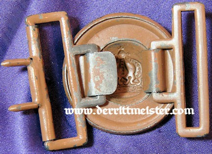 BAVARIAN OFFICER'S - SUBDUED BELT BUCKLE - Imperial German Military Antiques Sale