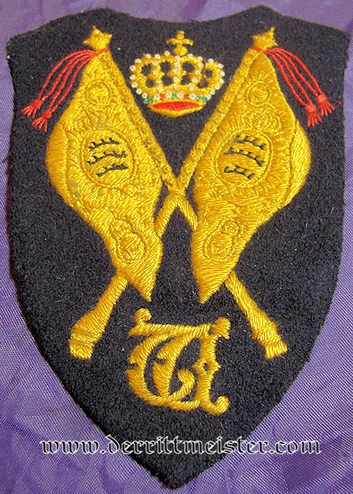 PREWAR REGIMENTAL COLOR FAHENTRÄGER SLEEVE PATCH - WÜRTTEMBERG - Imperial German Military Antiques Sale