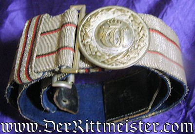 OFFICER'S BROCADE DRESS BELT - WÜRTTEMBERG - Imperial German Military Antiques Sale